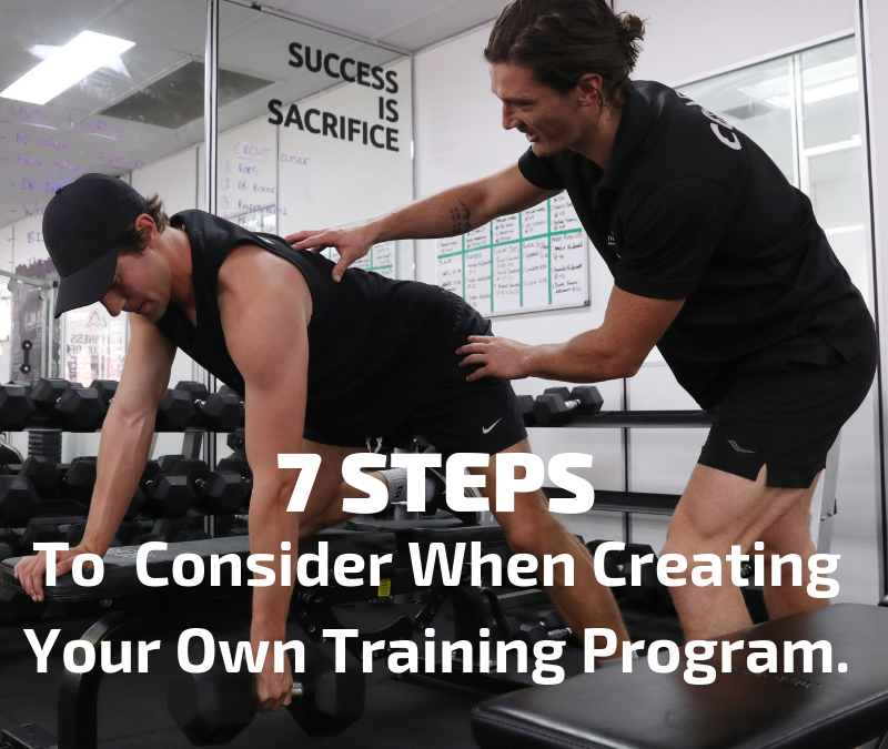 7 Steps To Consider When Creating Your Own Training Program